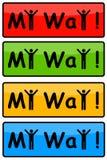 Mi manera Foto de archivo libre de regalías
