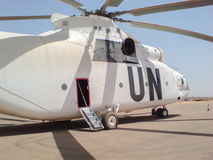 The Mi-26. The Mi-6 on March 29, 2009. In Sudan, the UN mission on transportation of humanitarian cargon Royalty Free Stock Images