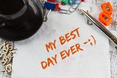 Mi mejor día nunca Imagen de archivo libre de regalías