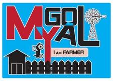 Mi meta es granjero stock de ilustración