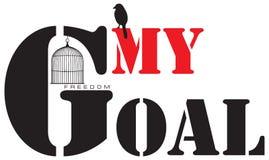 Mi meta es libertad Fotografía de archivo libre de regalías
