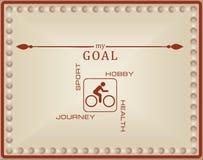 Mi meta está completando un ciclo Foto de archivo