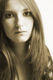 Mi mirada de la sepia Foto de archivo libre de regalías
