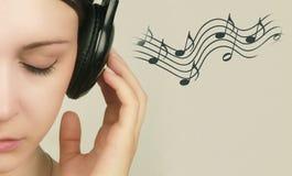 Mi mundo de la música Fotografía de archivo libre de regalías