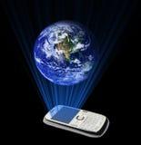 Mi mundo en mi concepto del smartphone Imagen de archivo libre de regalías