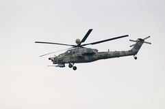 Mi-28N attack helicopter Stock Photo