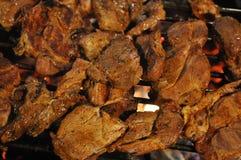 Mięso na grillu Fotografia Royalty Free