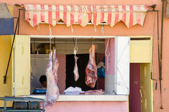 Mięso na rynku Zdjęcie Royalty Free