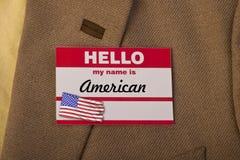 Mi nombre es americano fotografía de archivo libre de regalías