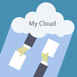 Mi nube Foto de archivo