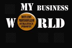 Mi palabra del negocio Imagenes de archivo