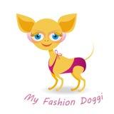 Mi perrito de la moda Imagen de archivo