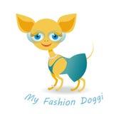 Mi perrito de la moda Fotos de archivo