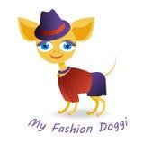 Mi perrito de la moda Imagenes de archivo