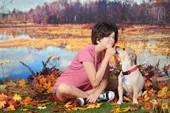 Mi perro callejero y yo Imagen de archivo libre de regalías