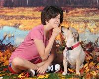 Mi perro callejero y yo Imágenes de archivo libres de regalías