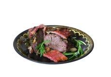 mięso piec rozmaryny Obraz Stock
