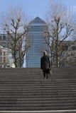 Mi position d'après-midi de Canary Wharf Londres adoptée du bord opposé de la Tamise Photo libre de droits