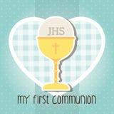 Mi primera comunión Imagen de archivo libre de regalías