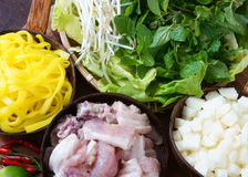Mi quang,  Quang noodle, Vietnamese food Royalty Free Stock Image