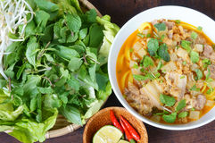 Mi quang,  Quang noodle, Vietnamese food Royalty Free Stock Images