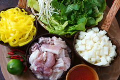 Mi quang,  Quang noodle, Vietnamese food Stock Image