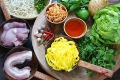 Mi quang,  Quang noodle, Vietnamese food Stock Images