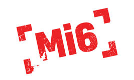 Mi6 rubber stamp. Grunge design with dust scratches. Effects can be easily removed for a clean, crisp look. Color is easily changed Royalty Free Stock Photography