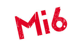 Mi6 rubber stamp. Grunge design with dust scratches. Effects can be easily removed for a clean, crisp look. Color is easily changed Royalty Free Stock Photos