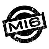 Mi6 rubber stamp. Grunge design with dust scratches. Effects can be easily removed for a clean, crisp look. Color is easily changed Stock Photo