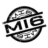 Mi6 rubber stamp. Grunge design with dust scratches. Effects can be easily removed for a clean, crisp look. Color is easily changed Stock Photography