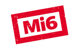 Mi6 rubber stamp. Grunge design with dust scratches. Effects can be easily removed for a clean, crisp look. Color is easily changed Royalty Free Stock Photo