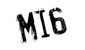 Mi6 rubber stamp. Grunge design with dust scratches. Effects can be easily removed for a clean, crisp look. Color is easily changed Stock Photos