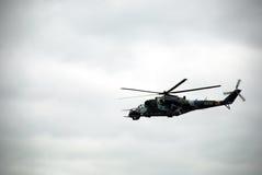 Mi-24 russe Images libres de droits
