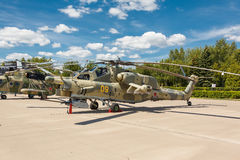 Mi-28 Russian military helicopters Stock Photo