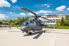 Mi-24 Russian military helicopters Royalty Free Stock Photos