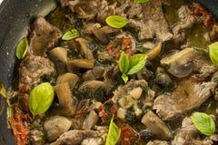 Mięsa i pieczarki gulasz Fotografia Stock