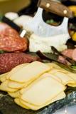 Mięsa i sera partyjna taca Zdjęcia Stock