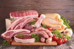 mięsa surowi Zdjęcia Stock