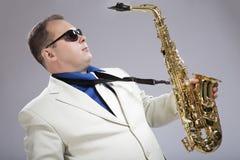 Mi saxofón Fotos de archivo