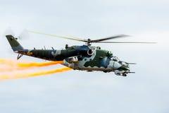 Mi-24 siły helikopter Obrazy Stock
