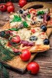 Mięsna pizza Fotografia Stock
