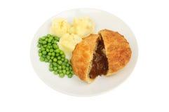 Mięsnego kulebiaka grochy i grula Obrazy Royalty Free
