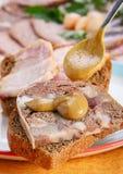 mięsnej rolki kanapka Obraz Stock