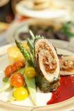 mięsnej rolki warzywa Zdjęcia Stock