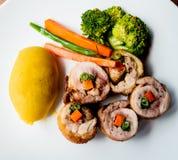 mięsnej rolki warzywa Zdjęcie Stock