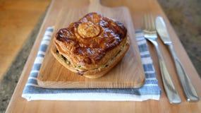 Mięsny lub jarzynowy kulebiak Fotografia Stock