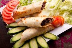 Mięsny shawarma talerz Zdjęcia Royalty Free