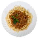 mięso spaghetti Zdjęcie Royalty Free