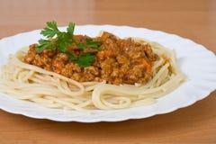 mięso spaghetti Obraz Royalty Free
